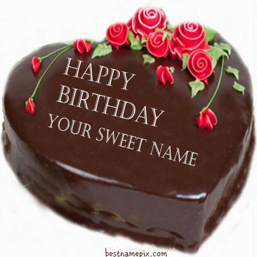 Write Your Name on Delicious Choco Cake Online Free