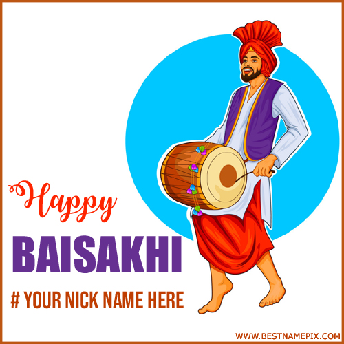 Baisakhi 2018 Celebration Wish Card With Name