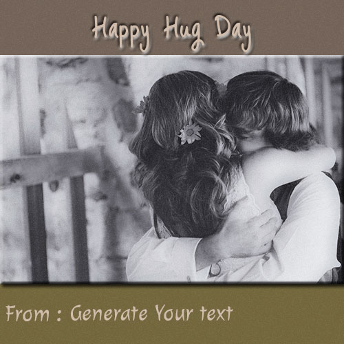 Generate Your Name on Happy Hug Day Couple Picture