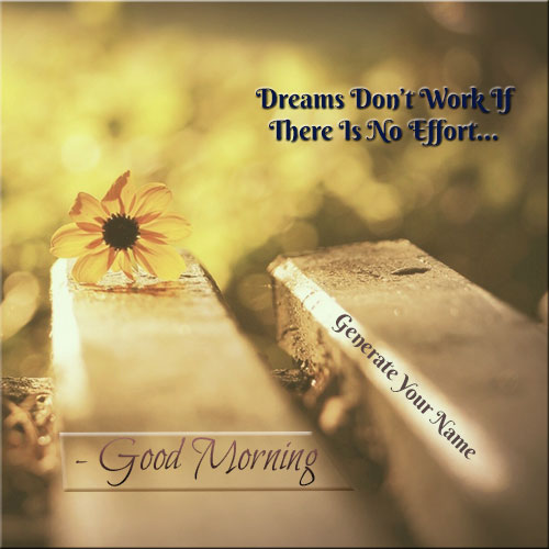 Generate Good Morning Wishes Picture With Custom Text