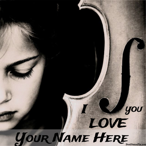 Write Your Name Music Love Girl Picture Online