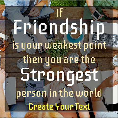 Write Your Name On Friendship Quote Picture
