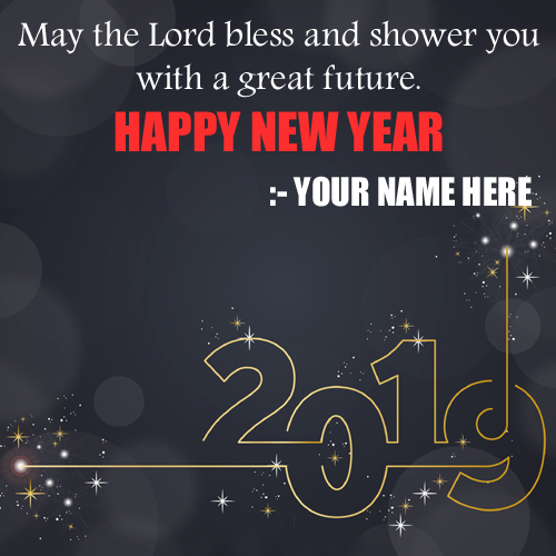 Happy New Year 2019 Quote Greeting With Name