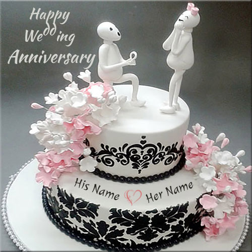 Happy Wedding Anniversary Cute Zoozoo Cake Name Pics