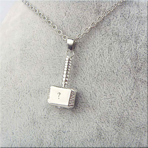 Write Your Alphabet On hammer Necklace Picture