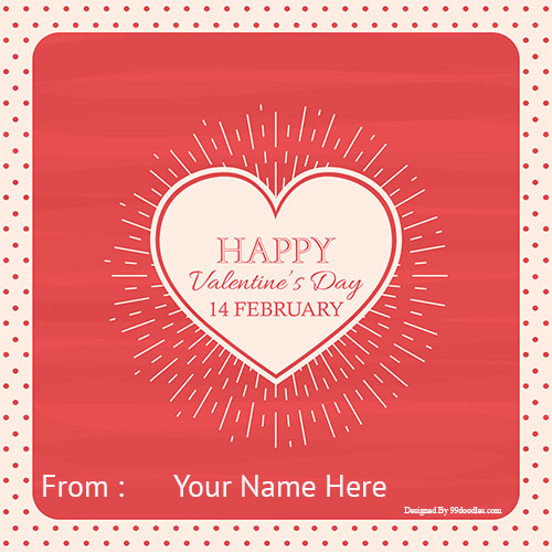 Happy Valentines Day 14th Feb Heart Pics With Your Name