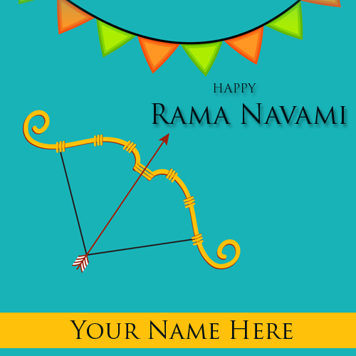 Happy Ram Navami Festival Greetings With Name