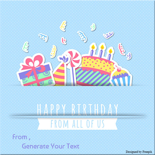Write Your Name On Happy Birthday Greeting Card Pics