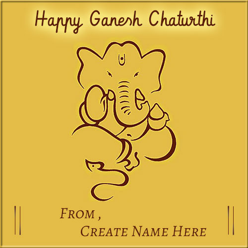 Generate Happy Ganesh Chaturthi Blesses Pics With Name