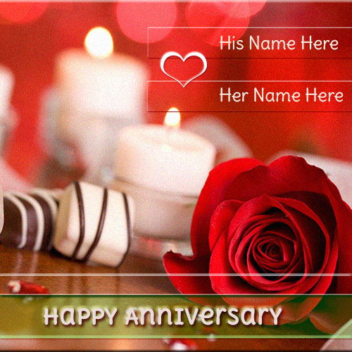 Generate Happy Anniversary Rose Pics With Couple Name