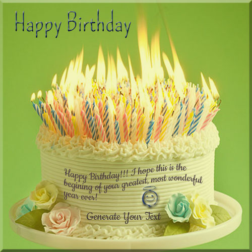 Images Of Birthday Cakes With Names And Candles : Write Your Name On Birthday Cake With Lots Of Candles
