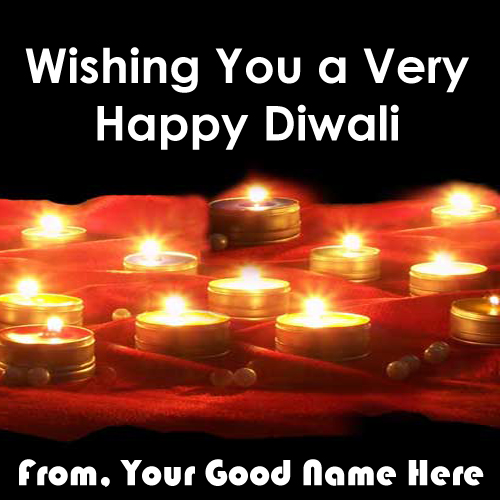 Happy Diwali Wishes Nice Lighting Wish Card Name Pix