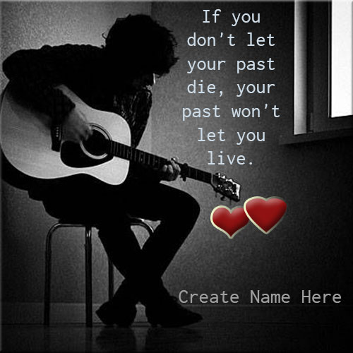 Generate Name On Lonely Boy With Guitar Picture