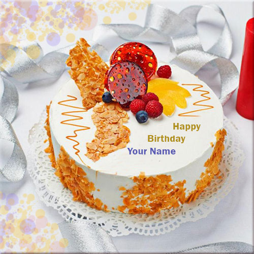 Generate Happy Birthday Dessert Cake Name Pics