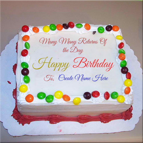 Many Many Returns Of The Day Cake Name Pics