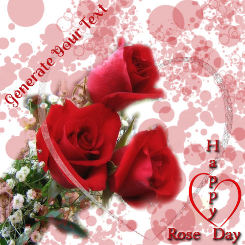 Generate Happy Rose Day Heart Photo With Name