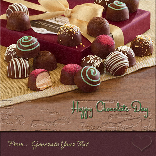 Happy Chocolate Day Wishes Picture With Custom Name