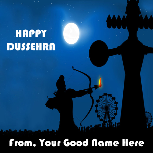 Happy Dussehra Festival New DP Name Profile Pix