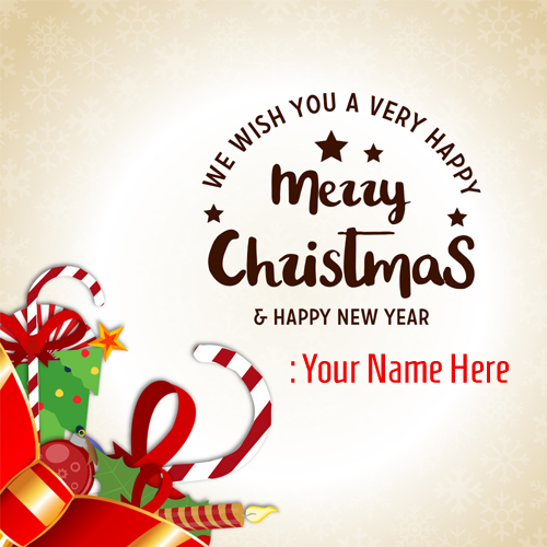 Merry Christmas Wishes Whatsapp DP Picture With Name