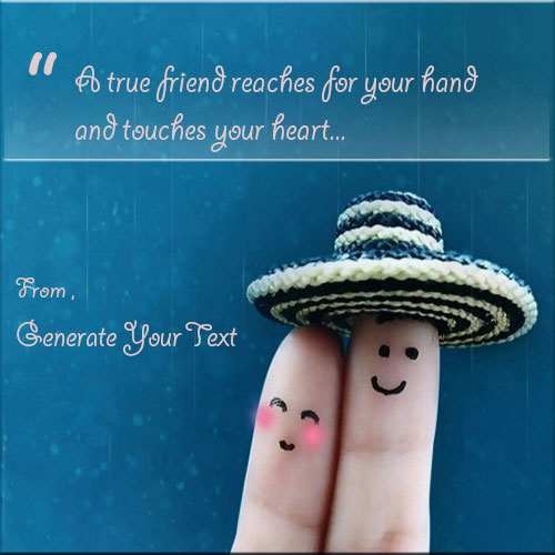 Generate Fingers Friendship Picture With Any Text