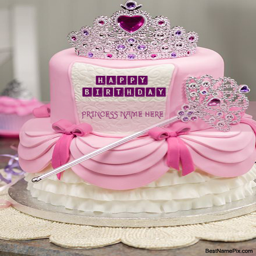 Write Your Prince Princess Name On Pink Royal Birthday