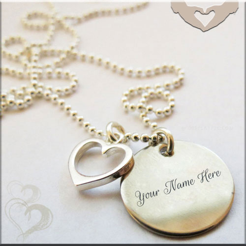 Genarte Heart Necklace Picture With Custom Name