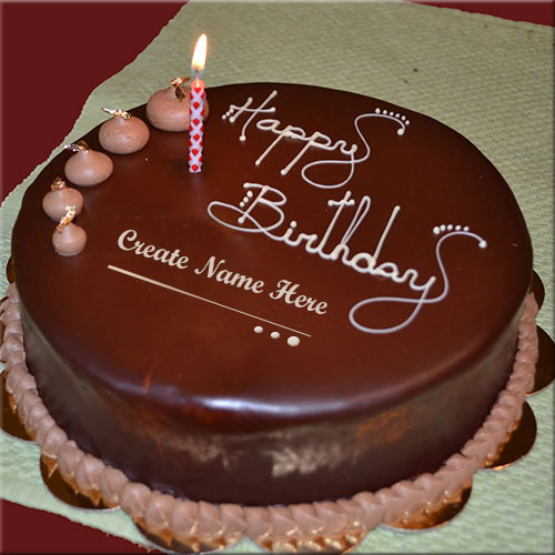 Cake Images And Names : Write Your Name on Happy Birthday Celebration Cake Online Fr