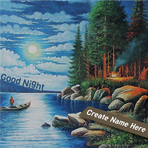 Write Name On Good Night Natural Profile Picture