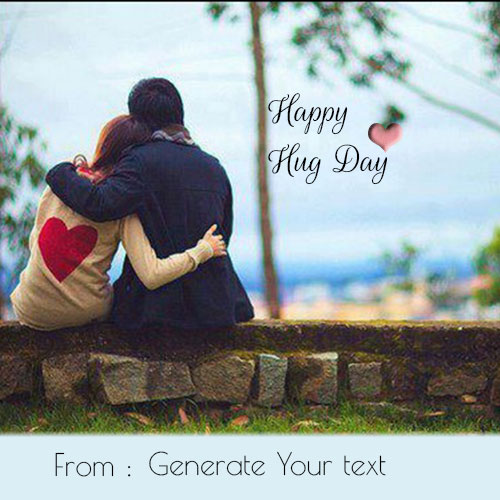 Happy valentines day greetings with your name happy hug day romantic couple image with name m4hsunfo