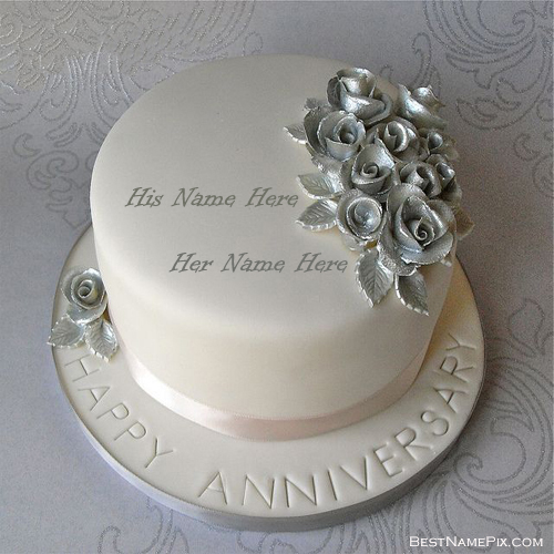 Write Your Name Wedding Anniversary Picture