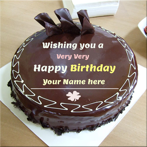 Print Name On Happy Birthday Choco Cake Name Pics