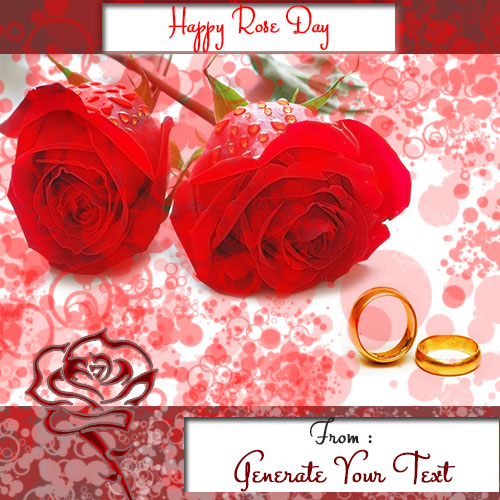 Create Your Custom Name With Happy Rose Day Card Pics