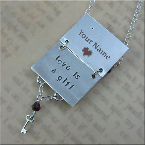 Write Name On Love Is Gift Message With Key Locket Pics
