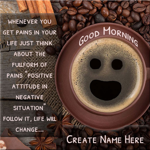 Write Name On Good Morning Black Tea Picture