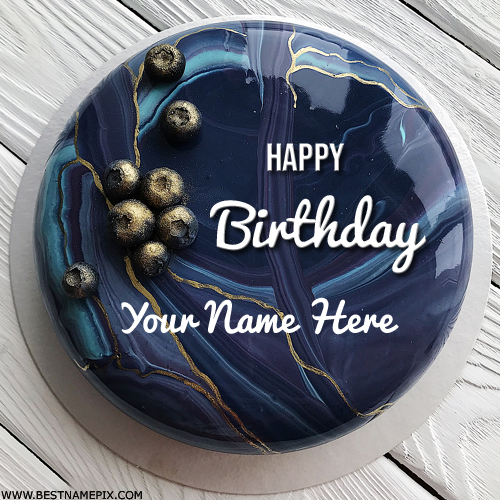 Happy Birthday Flavoured Cake With Name