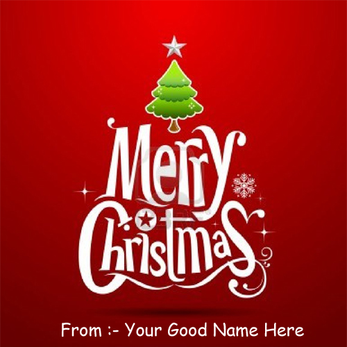Happy Merry Christmas Day Best Wishes Name Pictures