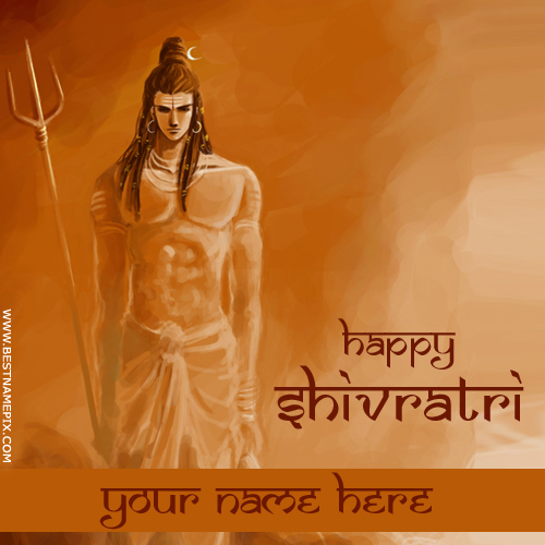 Shivratri 2018 Wishes Lord Shiva Greeting With Name