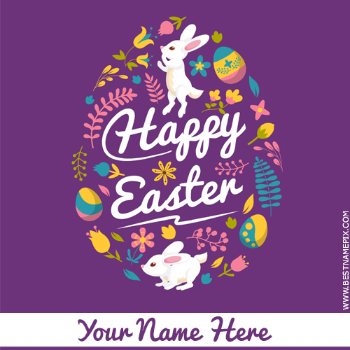 Happy Easter Day 2018 Wishes Greeting With Name