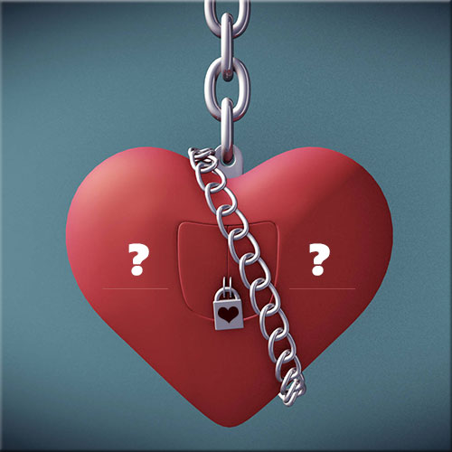 Personalize Alphabet On Love Heart Chain Lock Picture