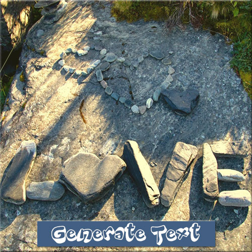 Stone Art Of Love Picture With Custom Name
