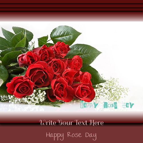 Happy Rose Day Wishes Pics With Your Custom Text