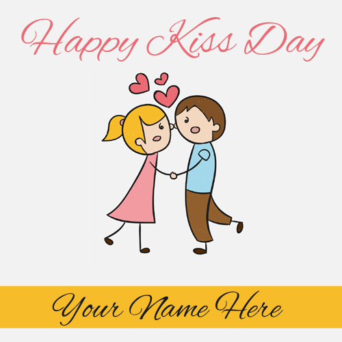 Happy Kiss Day 2018 Love Card With Name