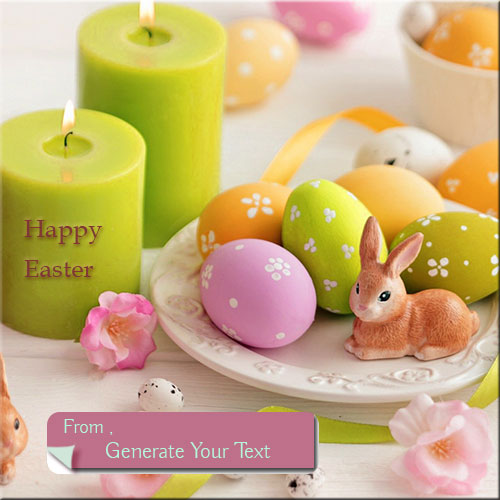 Print Your Name On Happy Easter Beautiful Picture