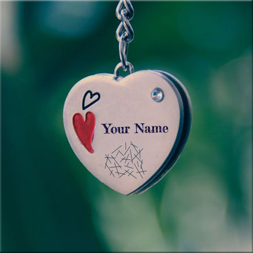 Customize Heart Shape Locket Pic With Your Name