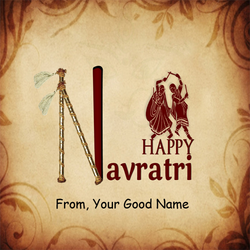 Navratri Festival Awesome Wishes Name DP Profile Pics