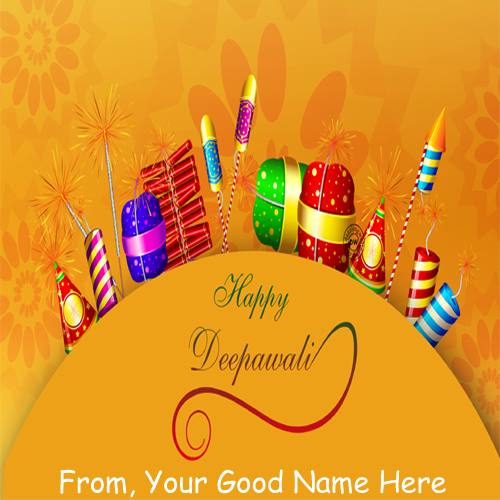 Happy Diwali 2015 Crackers Wishes Name DP Pictures