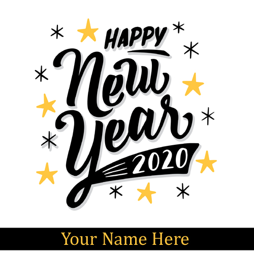Happy New Year 2020 Greetings With Your Name