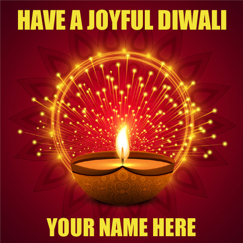 Have a Joyful Diwali Profile Pic With Your Name
