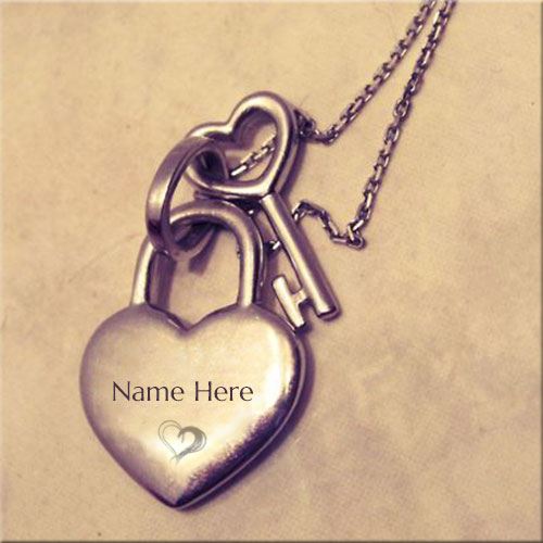 Online Print Name On Heart Shape Locket Pics