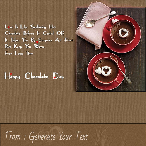 Create Name On Happy Chocolate Day Quote Greetings